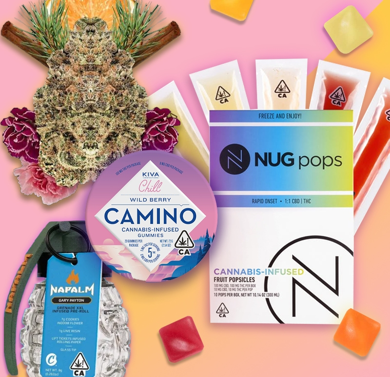 Napalm Grenede, Kiva Confections, Kiva Camino, Nug Pops, Summer weed, summer edibles, best strains, best summer strains, summer weed strains